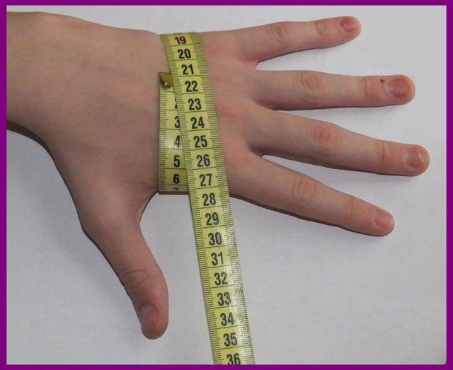 как правильно измерить ладонь