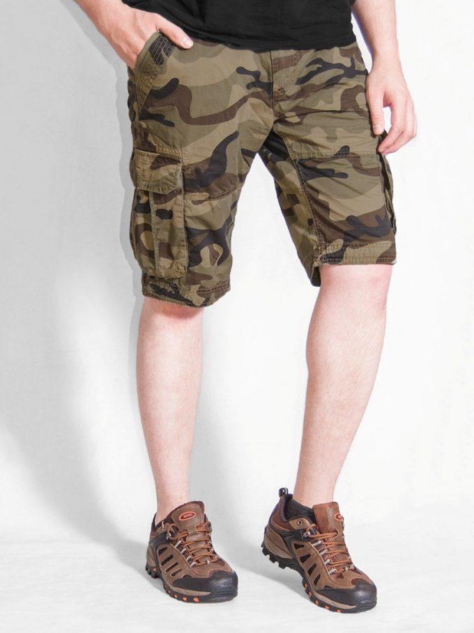 шорты карго с накладными карманами