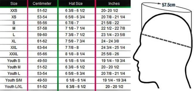 как узнать размер шлема
