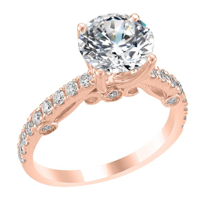 фото кольца с бриллиантом