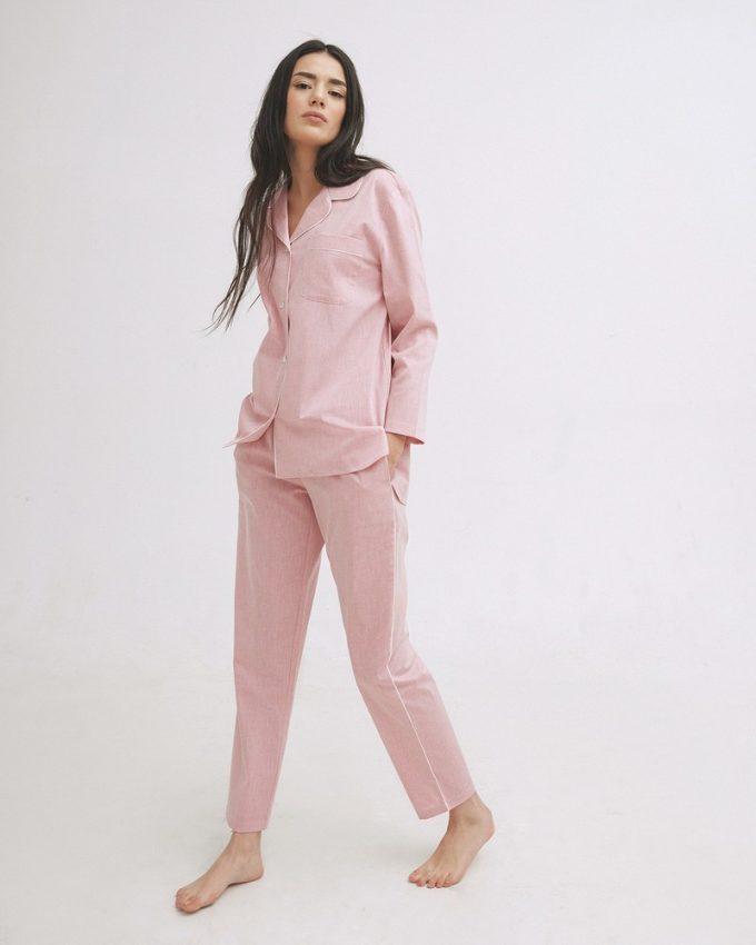 комфортная классическая пижама