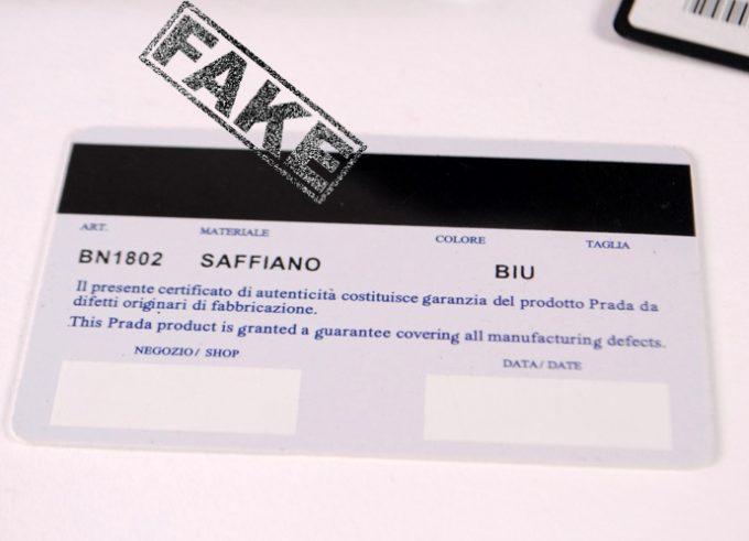сертификат на сумку