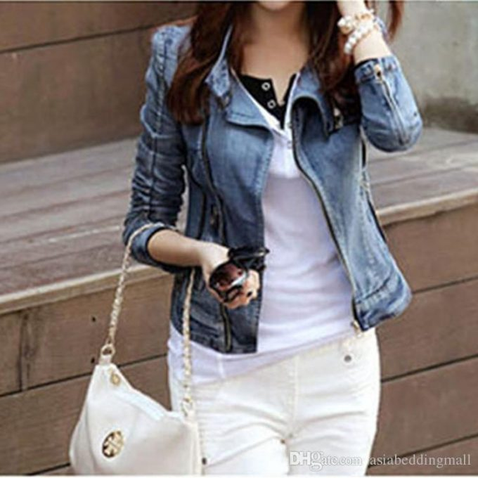 куртка из джинсовой ткани