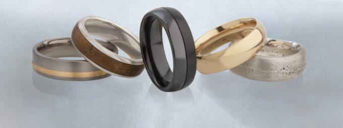 разнообразные материалы для колец