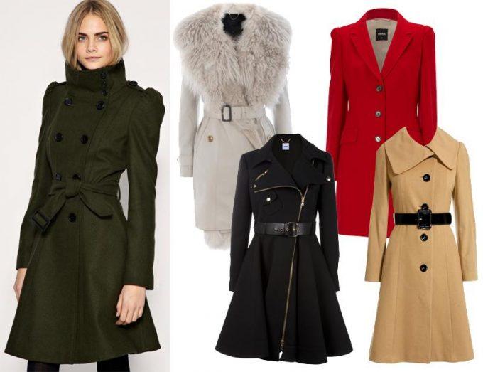 стильное пальто в гардеробе женщины