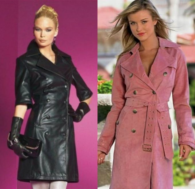 роскошные и водонепроницаемые пальто из кожи