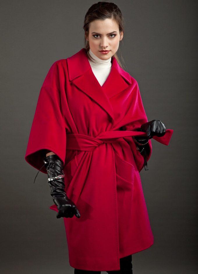 лёгкость пальто из кашемира