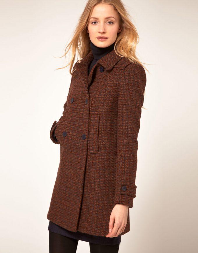 привлекательность пальто из твида