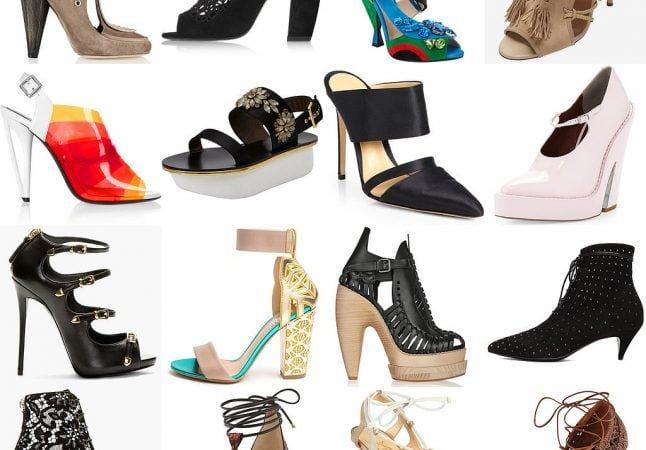 разнообразие каблуков обуви