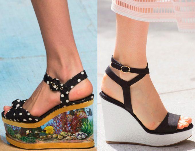 обувь на платформе придаёт изящество ногам