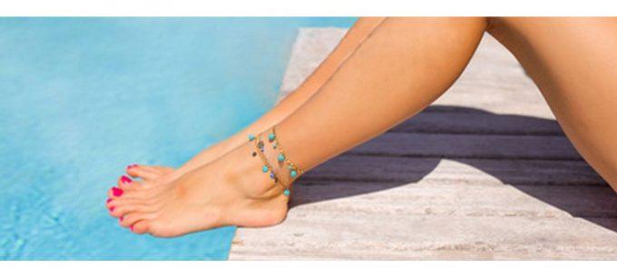 браслет украшение на ногу