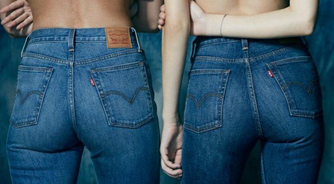 джинсы бренда хорошо сидят по фигуре