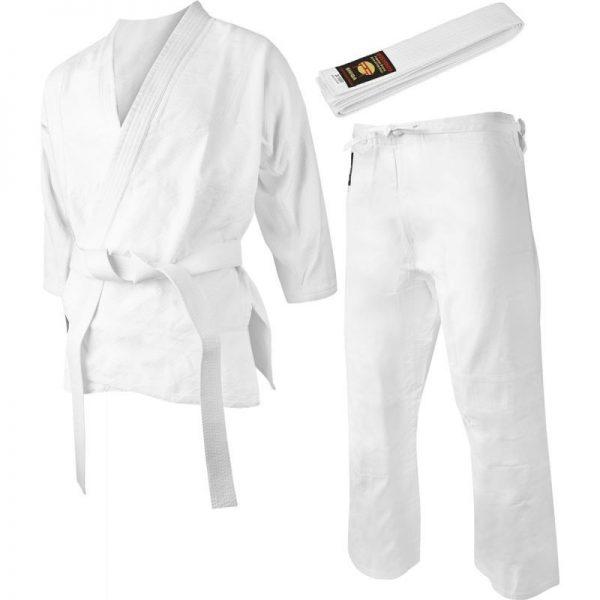 Экипировка белого кимоно для взрослого