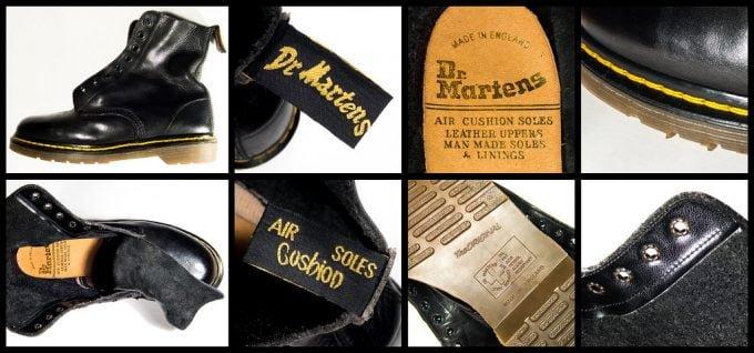 осмотр внешнего вида ботинок