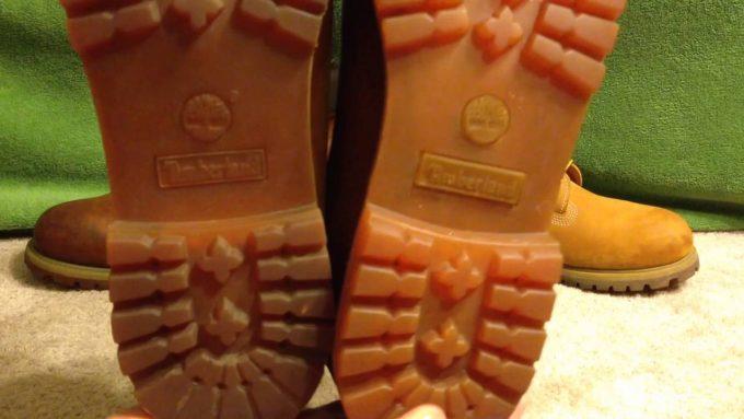 Отличить настоящую подошву обуви Timberland