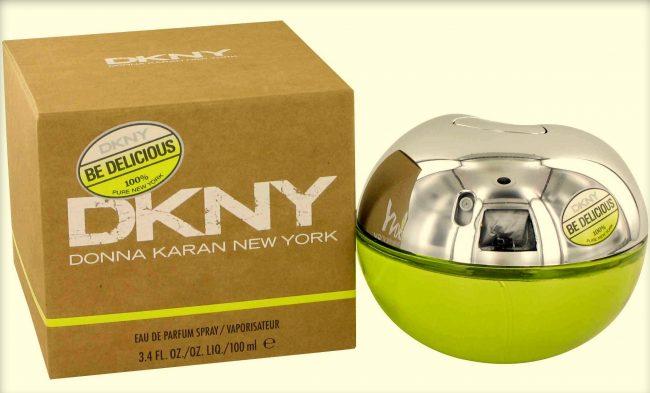 оригинальные духи DKNY в виде яблока