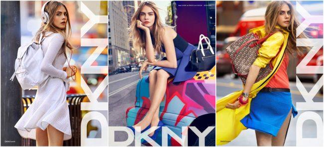 девушка в одежде от DKNY