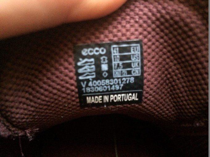 упаковка и артикул обуви ессо