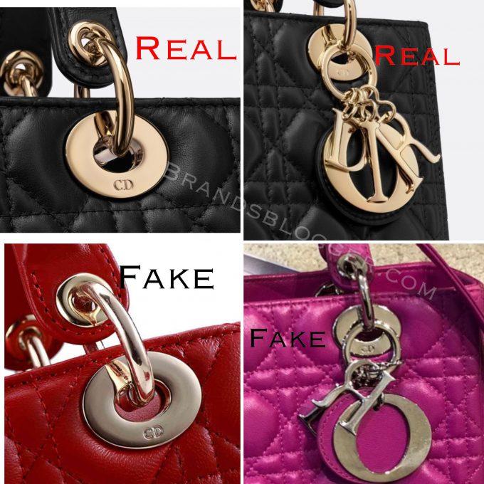 Крепления на оригинальных сумках Dior Lady