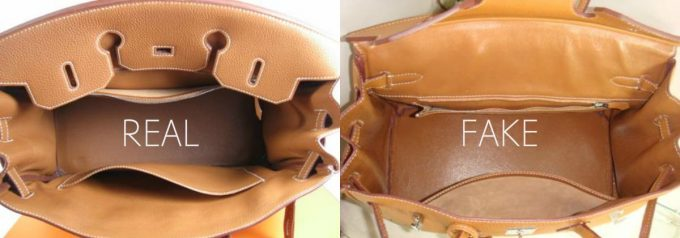 Подкладки сумок Гермес из настоящей кожи