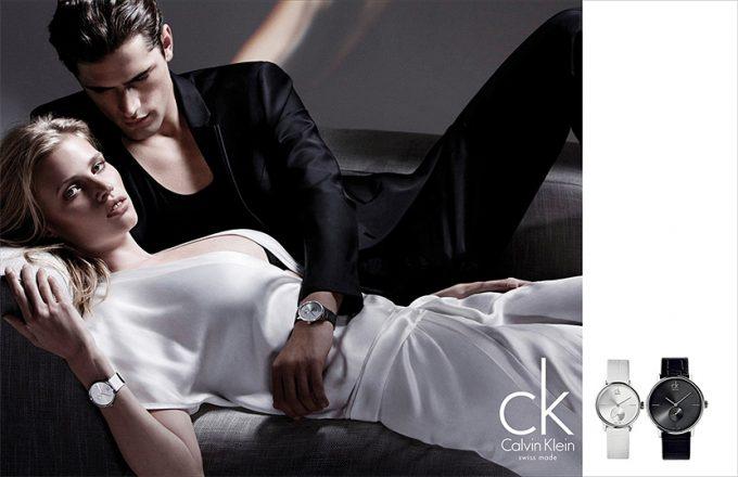 девушка и парень с часами от Calvin Klein