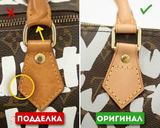 отличительные признаки подделки сумок LV