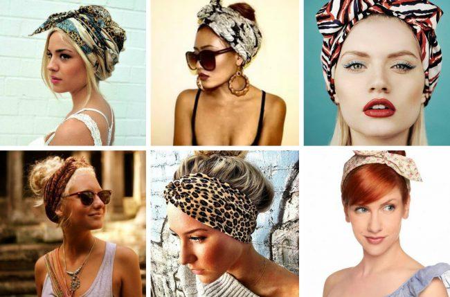платки на голову в виде повязки