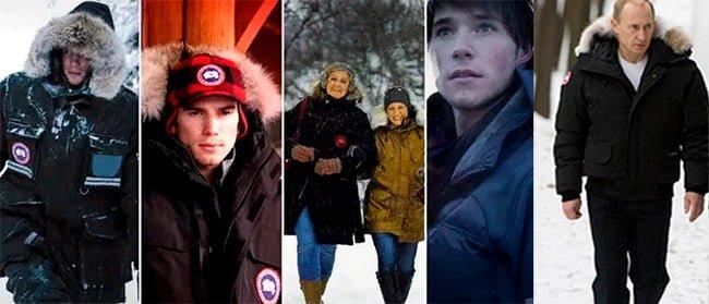 знаменитости в куртках Canada Goose