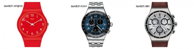 Какие модели есть у часов swatch