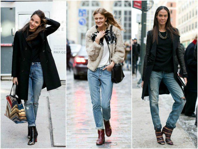 ботильоны с джинсами