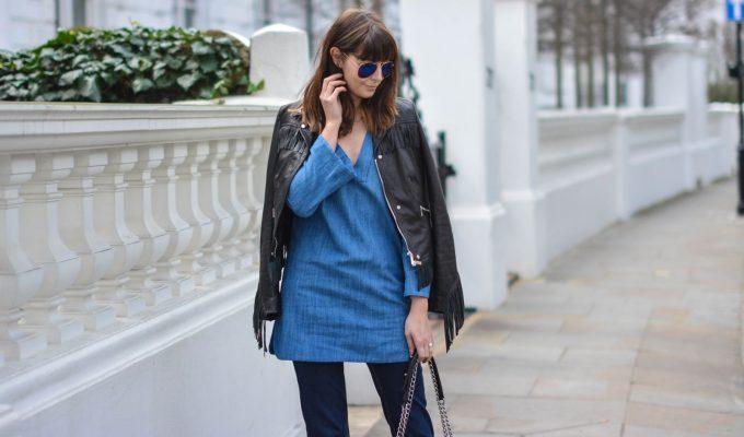 джинсовая туника