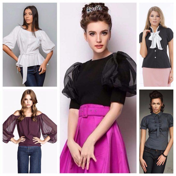 сочетание блузки с другими элементами одежды