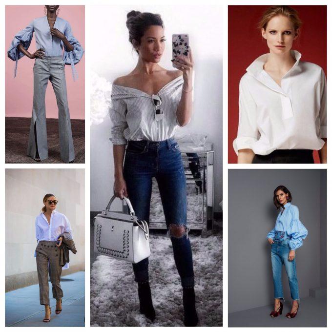 блуза причудливых фасонов