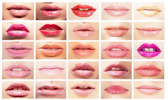 выбор по форме губ