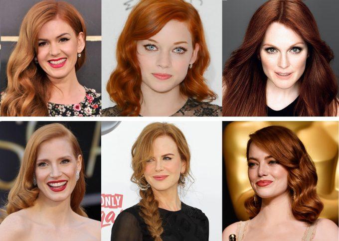 выбор по цвету волос