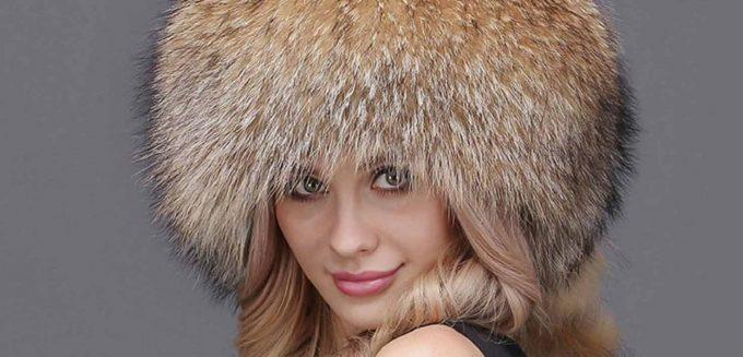 шапка из енота