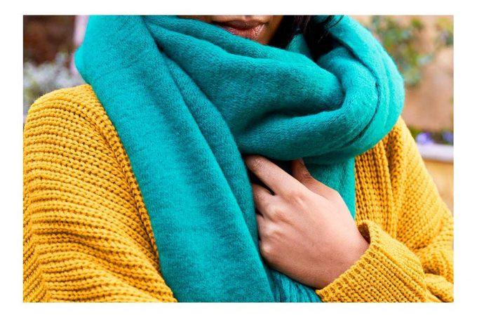 выбор материала для шарфа