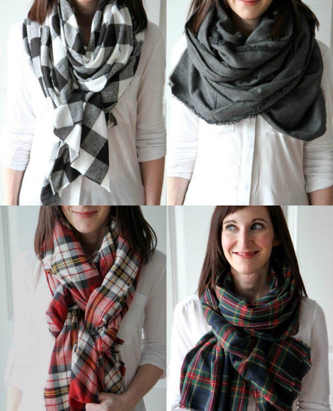 шарф одеяло
